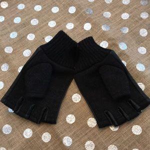 Express Men's Gloves fingers out L/XL NWT Black